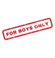 For Boys Only Text Rubber Stamp vector image vector image