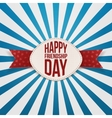 Friendship Day festive Badge and red Ribbon vector image vector image