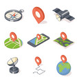 gps navigation icons set vector image vector image