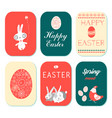 happy easter greeting cards set vector image