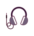headphone audio device vector image vector image