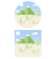 hipster landscape flat style vector image