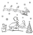 Holiday Christmas Cartoon vector image