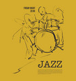 jazz music party invitation design vector image