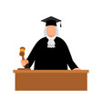 judge avatar icon vector image vector image