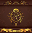 Letter P Luxury Logo template flourishes vector image vector image