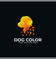 logo dog poly color style vector image