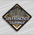 logo for san francisco vector image