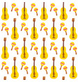 maracas guitar seamless pattern vector image vector image