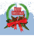 merry christmas greeting card with chrirstmas vector image vector image