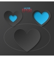 Modern flat design hearts with drop shadows vector image