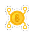 money bitcoin golden digital vector image vector image