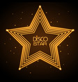 neon sign disco star vector image vector image