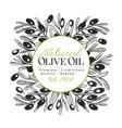 olive tree banner template vintage vector image