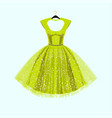 party lime green dress with fancy decor vector image vector image