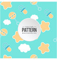 pattern star cloud baby pacifier background vector image