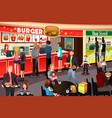 people ordering food in food court vector image