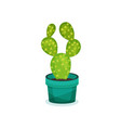 prickly pear cactus in a pot element for vector image vector image