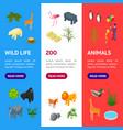 public zoo banner vecrtical set concept 3d vector image vector image