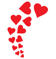 red flying hearts design vector image