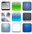 Square modern app template icons vector