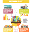 Store Buildings Infographic Set vector image vector image