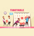 timetable vector image vector image