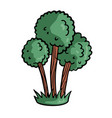 tree on white background cute cartoon vector image vector image