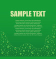 water drops green background with place for text vector image vector image