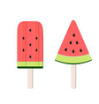 watermelon ice cream icon vector image vector image