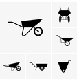 wheelbarrow cart vector image vector image