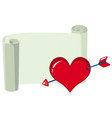 white paper and red heart template vector image