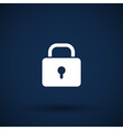 Blue lock icon with protection key password vector image