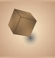 white cube isolated on white background vector image