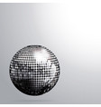 3d silver disco ball and shadow background vector image vector image