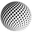 abstract halftone globe logo symbol icon vector image