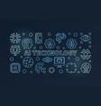 ai technology blue horizontal modern vector image