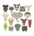 Animal Heads Set vector image
