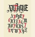 antique font set vintage alphabet letters vector image