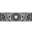 art tattoo sleeve in polynesian style border vector image vector image