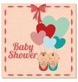 baby shower design vector image vector image