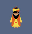 bearded king wearing sunglasses vector image