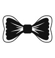 big bow tie icon simple style vector image