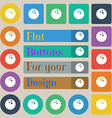 Bowling game ball icon sign Set of twenty colored vector image vector image