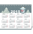 Calendar for 2015 Goat symbol of the year vector image vector image