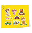 Children and toys vector image vector image