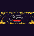 christmas sale horizontal background with golden vector image vector image
