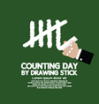 Counting Day By Drawing Sticks vector image vector image