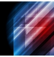 Dark blue red tech background vector image vector image