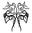 decorative ornament on white background vector image vector image